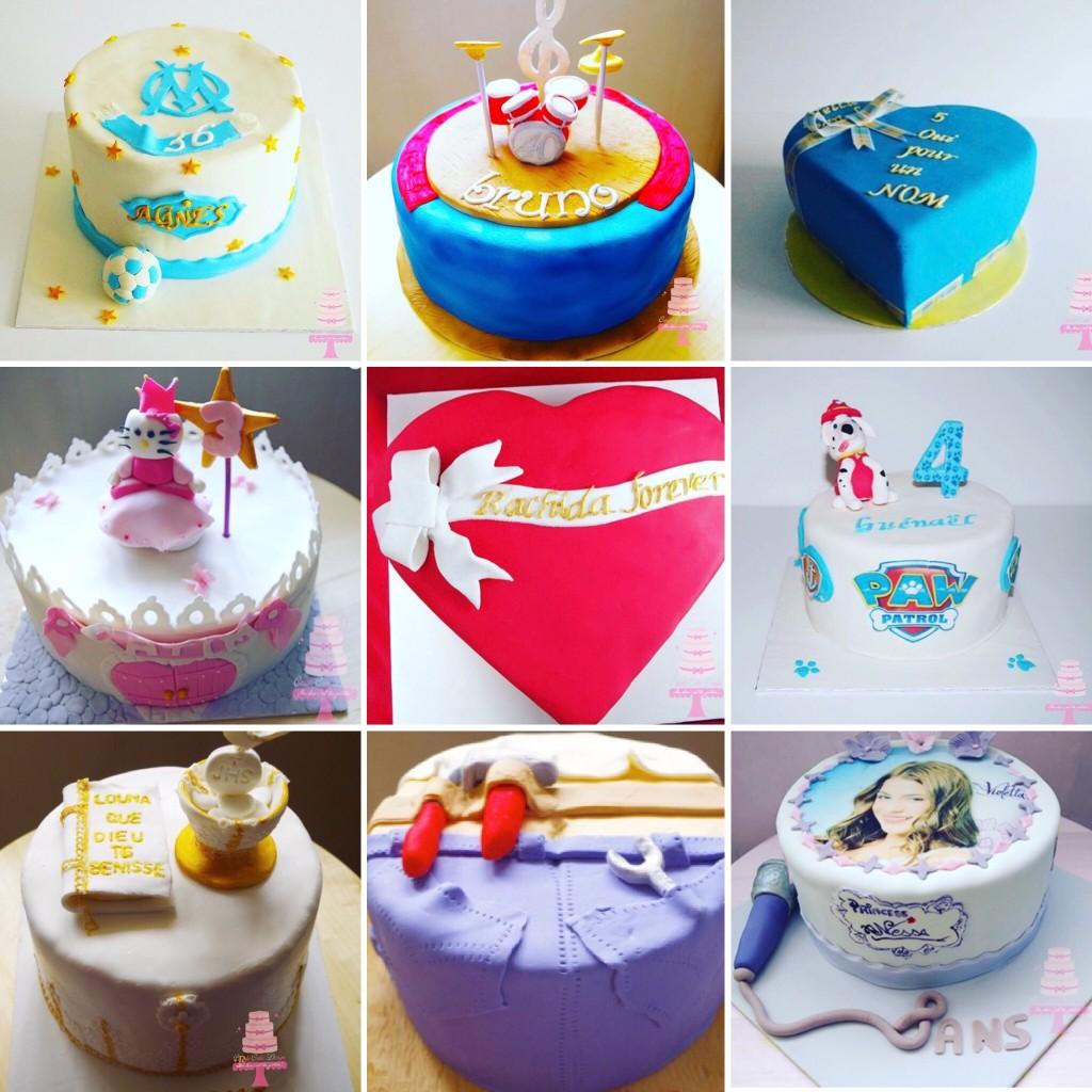 Gâteaux gamme pâte à sucre