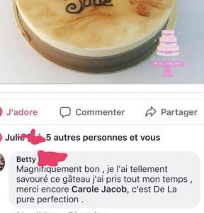 avis client Carole cake design